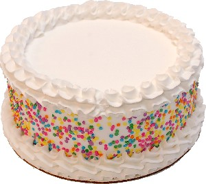 "Celebration White BLANK TOP Fake Cake 9"" U.S.A."