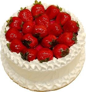 Strawberry Top Vanilla Fake Cake 9 inch USA