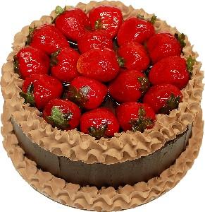 Strawberry Top Chocolate Fake Cake 9 inch USA
