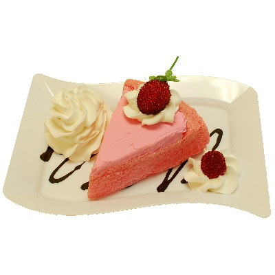 Raspberry Cake Fake Dessert Plate USA