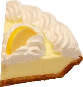 Lemon Cream Fake Pie Slice USA