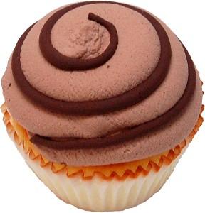 Chocolate swirl fake cupcake USA