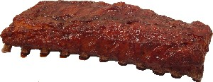 BBQ Rack of Ribs fake food USA