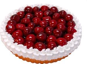 Cherry Fake Fruit Tart 8 inch USA
