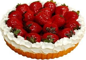Strawberry Fake Fruit Tart 8 inch USA