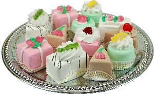 Mini Mixed Fakey Cakes 12 pack Assortment Petit Four