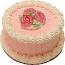 """Pink Rose 6"""" Fake Cake U.S.A."""