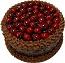 Cherry Chocolate Gel Cake 9 inch USA