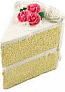 Vanilla cake slice large USA