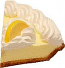 Lemon Cream Fake Pie Slice USA