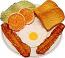 Fried Egg and Bacon Plate Fake Food USA