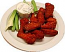 Buffalo Fake Wings Red Sauce Plate 12 Chicken Wings Artificial Food U.S.A.