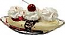 Banana Split fake ice cream USA
