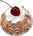 Small Vanilla Bundt Cake Cherry Fake Food USA
