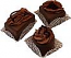 Mini Fakey Designer Chocolate Cakes 3 pack Petit Fours USA