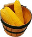 Whole Fake Corn 3 piece with Round basket fake Vegetable USA