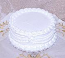 White Wedding fake Cake with Lace 9 Inch USA