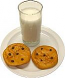 Santa's Chocolate Chip Cookies and milk USA