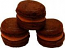 Chocolate Fake Macarons (Macaroon) with Cream 3 Pack U.S.A.
