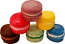 Fake Macarons (Macaroon) with Cream 6 Pack Assorted U.S.A.