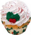 Holly Christmas Fake Cupcake USA