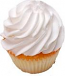 White Fake Cupcake Plain USA