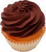 Chocolate Plain Fake Cupcake