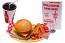Fake Cheeseburger Drink and Custom Menu Set U.S.A.