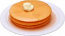 Pancakes 3 stack fake food Plate USA