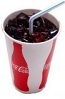 Fake Cola Soda with Ice Paper Cup USA