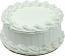 White Plain Fake Cake 9 inch Blank USA
