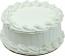 White Plain Fake Cake 9 inch Blank USA