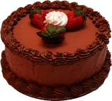 Chocolate Strawberry Decorative Fake Cake 9 inch USA