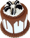 "Cookie and Cream Tall Fake Cake 9"" USA"