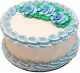 Pale Blue Rose Blank Fake Cake USA