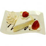 Vanilla Cake and Strawberry Fake Dessert Plate USA