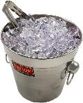 Ice Bucket with Tongs fake ice