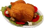 Chicken Baked fake food Plate USA