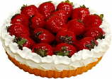 Strawberry Fake Fruit Tart 8 inch USA
