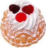 Small Vanilla Bundt Cake Raspberry Fake Food USA