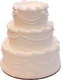 White Three tier Stacked Wedding Fake Cake 9 Inch USA