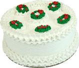 "9"" Christmas Wreath Fake Cake USA"