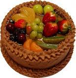 Chocolate Fake Fruit Cake 9 inch USA