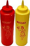 Mustard and Ketchup Fake Food