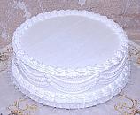 White Wedding fake Cake with Lace 16 Inch USA
