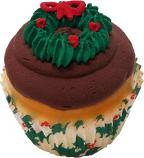 Christmas Wreath Chocolate Fake Cupcake USA