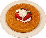 Strawberry Waffle Plate fake food USA