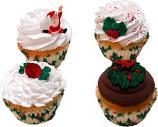 Christmas Cupcake Assortment Fake Cupcakes 4 Pack P Box USA