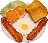 Fried Egg and Bacon Plate Fake Food USA
