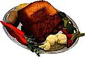 Roast Beef fake food Tray USA